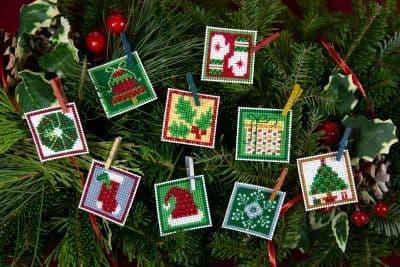 Mill Hill Advent Trilogy Ornament Set 2 beaded cross stitch kit