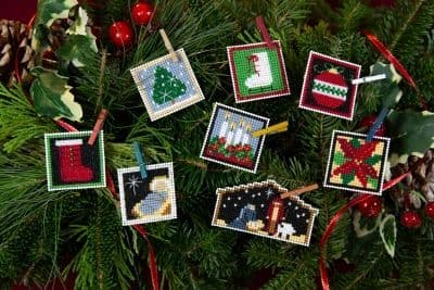 Mill Hill Advent Trilogy Ornament Set 3 beaded cross stitch kit