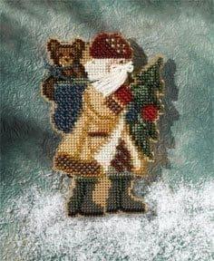 Mill Hill Allegheny Santa beaded cross stitch kit