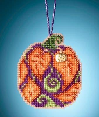 Mill Hill Autumn Pumpkin beaded cross stitch kit