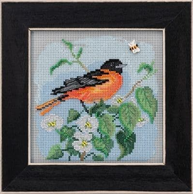 Mill Hill Baltimore Oriole beaded cross stitch kit