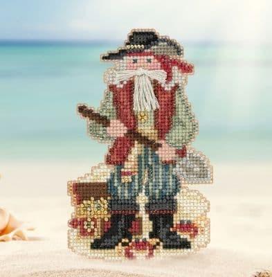 Mill Hill Barbados Caribbean Santa beaded cross stitch kit