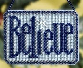 Mill Hill Believe beaded cross stitch kit