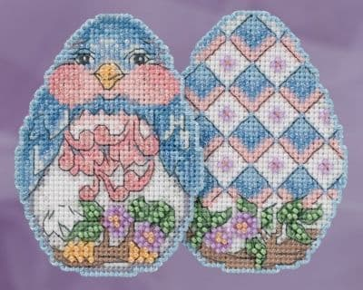 Mill Hill Bluebird Egg Jim Shore beaded cross stitch kit
