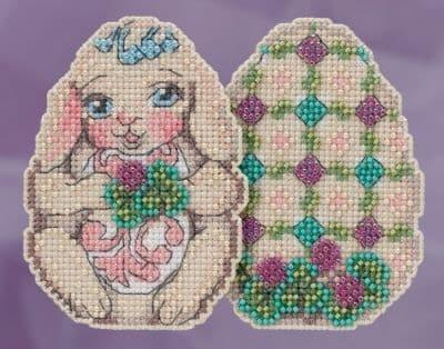 Mill Hill Bunny Egg Jim Shore beaded cross stitch kit