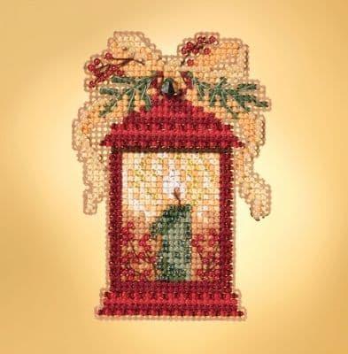 Mill Hill Christmas Lantern beaded cross stitch kit