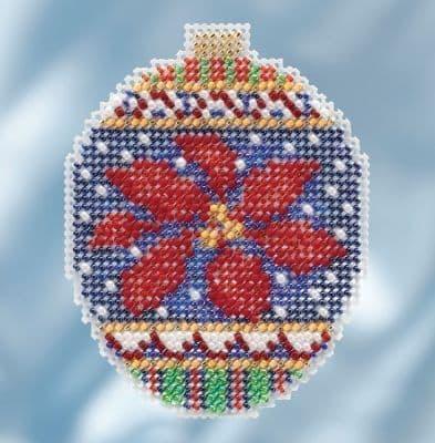 Mill Hill Christmas Poinsettia beaded cross stitch kit