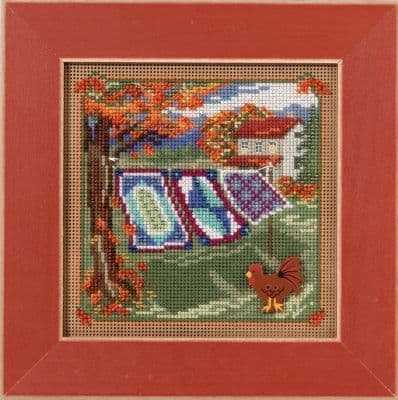 Mill Hill Country Quilts beaded cross stitch kit