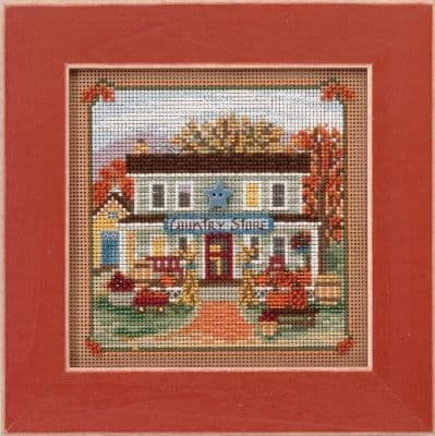 Mill Hill Country Store beaded cross stitch kit