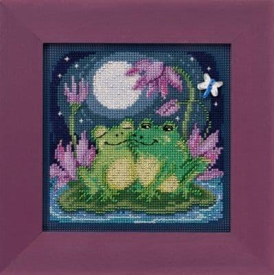 Mill Hill Courtin' Froggies beaded cross stitch kit