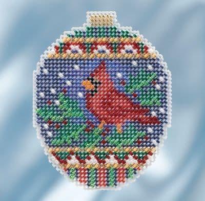 Mill Hill Crimson Cardinal beaded cross stitch kit