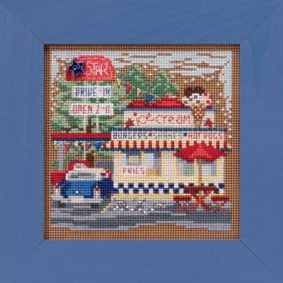 Mill Hill Drive-In beaded cross stitch kit