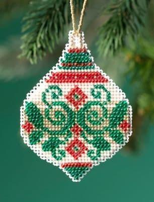 Mill Hill Emerald Flourish beaded cross stitch kit