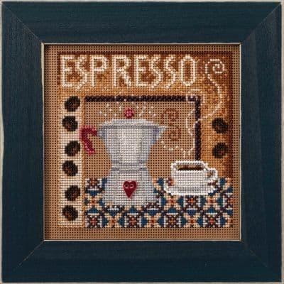 Mill Hill Espresso beaded cross stitch kit