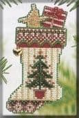 Mill Hill Evergreen Stocking beaded cross stitch kit
