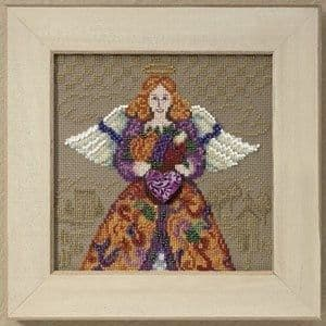 Mill Hill Fall Angel by Jim Shore beaded cross stitch kit