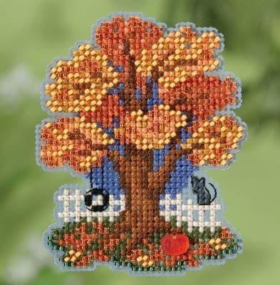 Mill Hill Fall Tree beaded cross stitch kit