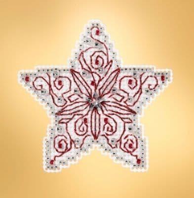 Mill Hill Filigree Star beaded cross stitch kit