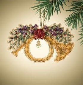 Mill Hill French Horn Holiday Harmony beaded cross stitch kit