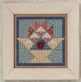 Mill Hill Fruit Basket Quilt beaded cross stitch kit