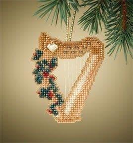 Mill Hill Harp Holiday Harmony beaded cross stitch kit