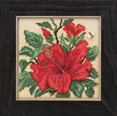 Mill Hill Hibiscus beaded cross stitch kit