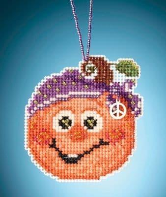 Mill Hill Hippie Pumpkin beaded cross stitch kit