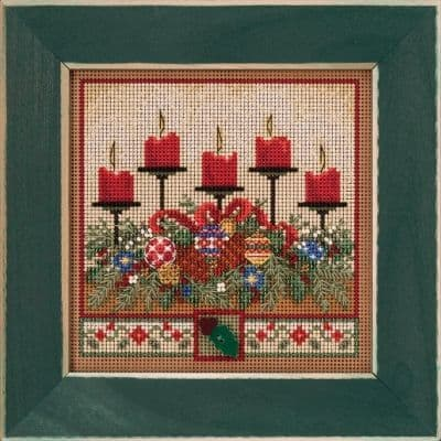 Mill Hill Holiday Glow beaded cross stitch kit