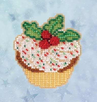 Mill Hill Holly Cupcake beaded cross stitch kit
