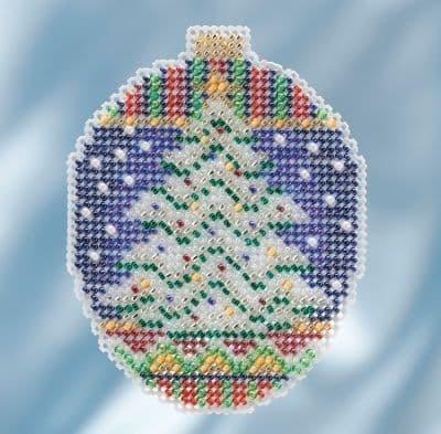 Mill Hill Icy Evergreen beaded cross stitch kit