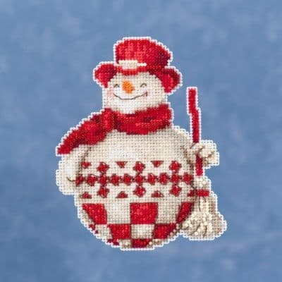 Mill Hill Jim Shore Nordic Snowman beaded cross stitch kit