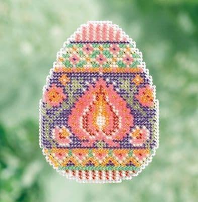 Mill Hill Lotus Egg beaded cross stitch kit