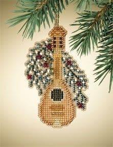 Mill Hill Mandolin Holiday Harmony beaded cross stitch kit