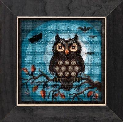 Mill Hill Midnight Owl beaded cross stitch kit