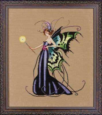 Mirabilia August Peridot Fairy printed cross stitch chart
