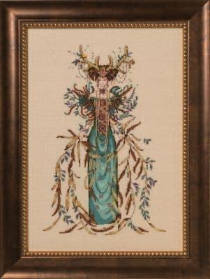 Mirabilia Cathedral Woods Goddess printed cross stitch chart