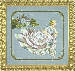 Mirabilia Cinderella printed cross stitch chart