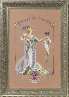 Mirabilia Lady Mirabilia printed cross stitch chart