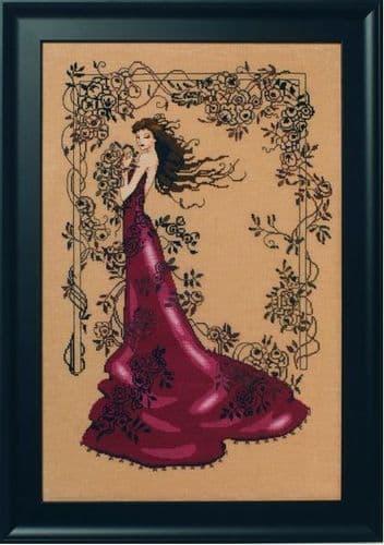 Mirabilia Lady of Mystery printed cross stitch chart