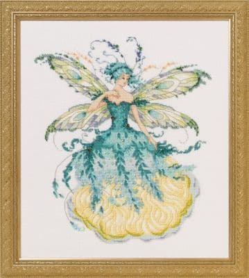 Mirabilia March Aquamarine Fairy printed cross stitch chart