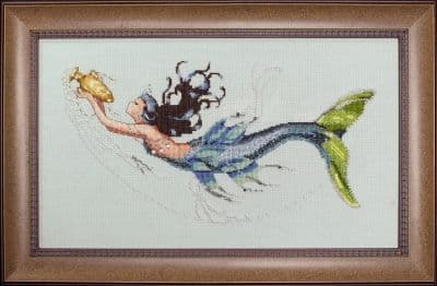Mirabilia Mediterranean Mermaid printed cross stitch chart