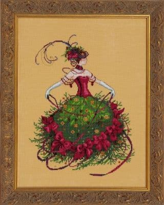 Mirabilia Miss Christmas Eve printed cross stitch chart