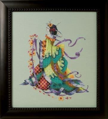 Mirabilia Miss Dancing Flower printed cross stitch chart