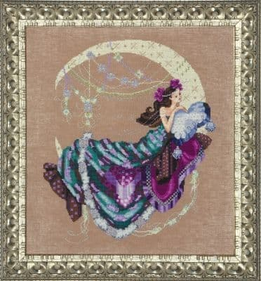 Mirabilia Moon Flowers printed cross stitch chart