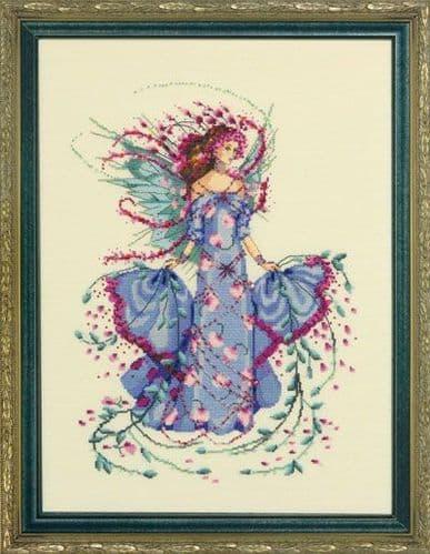 Mirabilia October Opal Fairy printed cross stitch chart