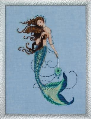 Mirabilia Renaissance Mermaid printed cross stitch chart