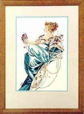 Mirabilia Summer Queen printed cross stitch chart