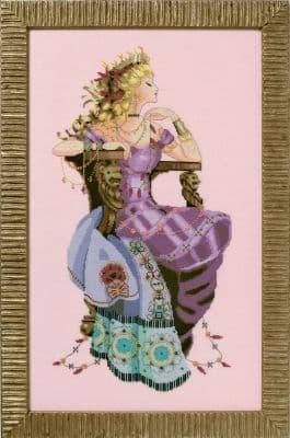 Mirabilia Sun Goddess printed cross stitch chart
