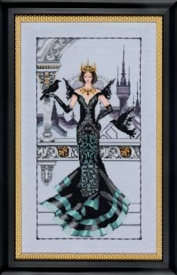 Mirabilia The Raven Queen printed cross stitch chart