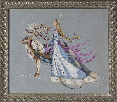 Mirabilia The Snow Queen printed cross stitch chart
